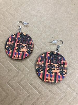 Genius Dashiki Small Circle Earrings