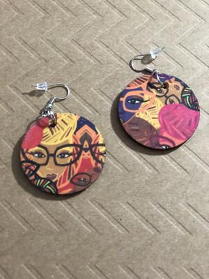 Genius Multicolor Small Circle Earrings