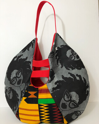 Fashion Locs Tote And Earring Set