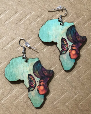Empowered by Peace Small Africa Earrings