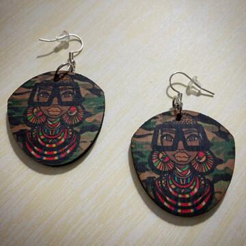 Maasai Coco Small Shield Earrings