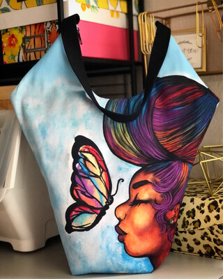 Empowered by Peace Xl Diamond Tote Bag