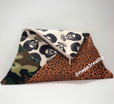 Fashion Fro Camo/Leapord Oversized Clutch