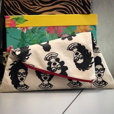 Fashion Fro multi style mini canvas clutch