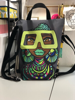 (Pre-order)Maasai Coco Medium Backpack Tote Ship Date by Sept 1, 2021