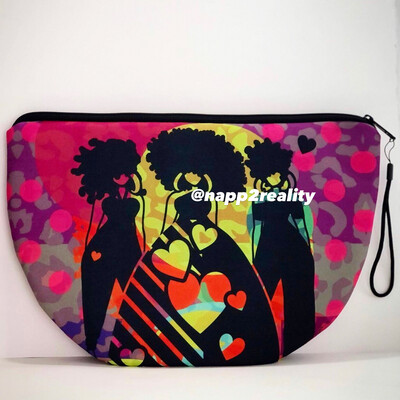3 Lovely Ladies Oversized Clutch