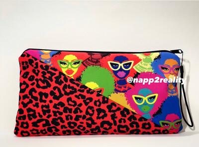 Fashion Fro Multicolor Hand Clutch