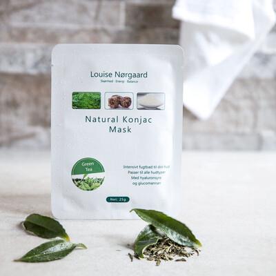 KONJAC MASKE - Green Tea (alle Hudtyper)