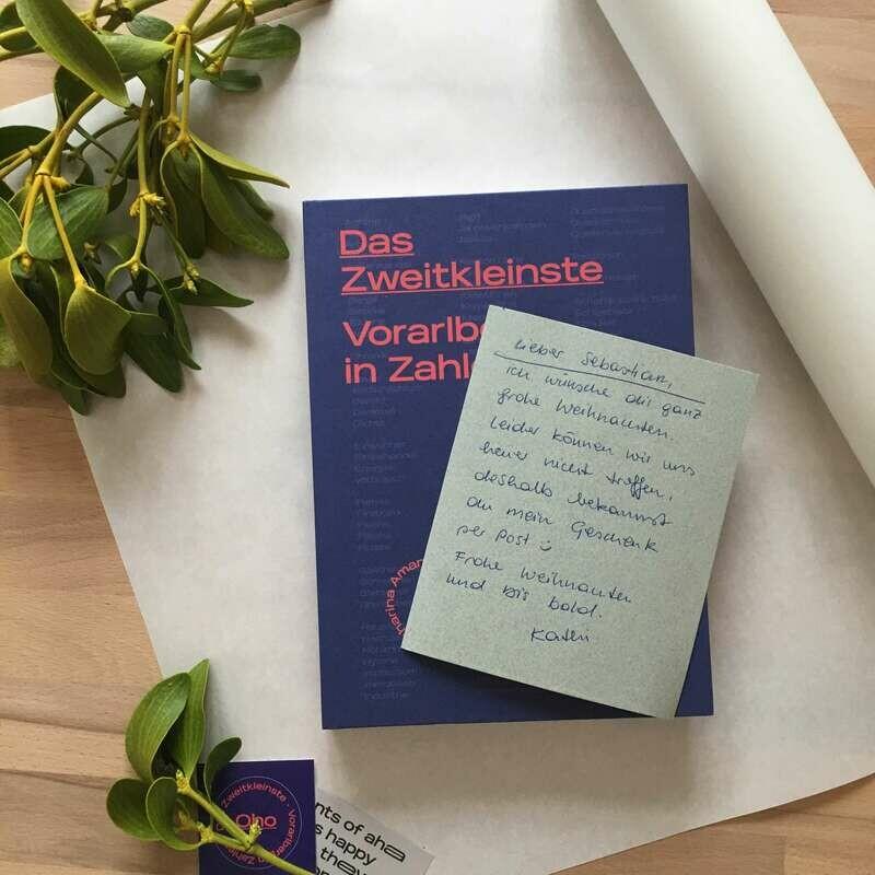 Weihnachtsspecial: Das Zweitkleinste Buch mit handgeschriebener Karte an deine Liebsten