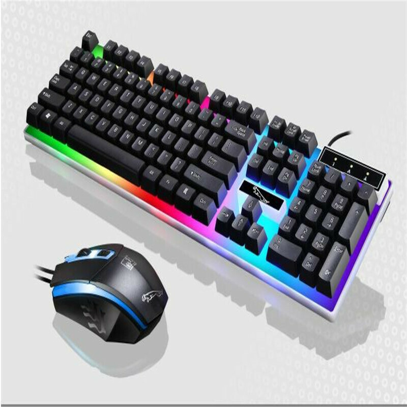 Wired Gaming USB Light Keyboard & Mouse Combo