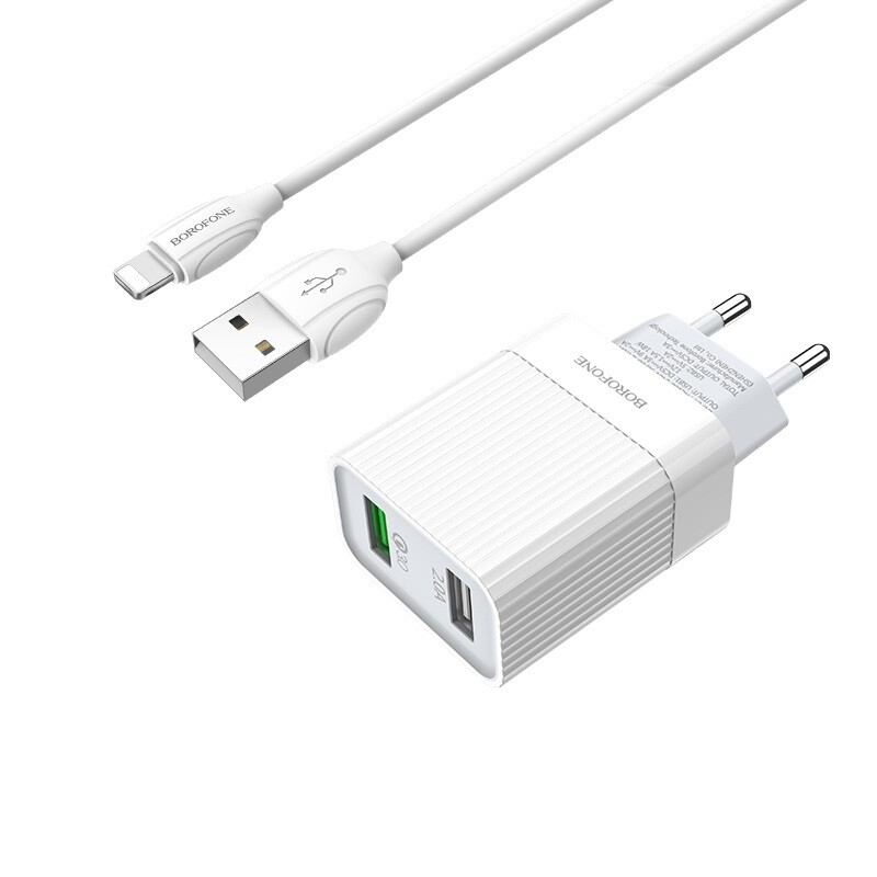 Wall charger BA39A Speedway QC3.0 EU set with cable