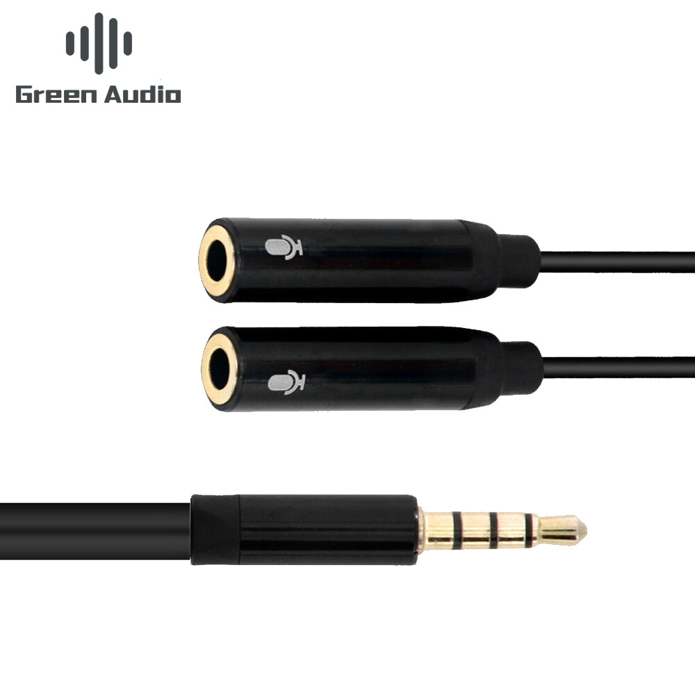 Double Microphone 3.5mm Splitter Cable
