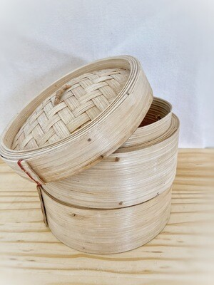 Two-Tier Bamboo Steamer