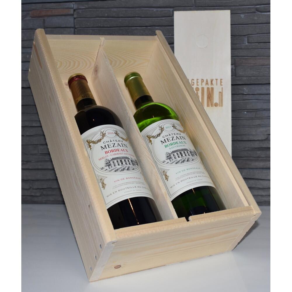 Mezain Bordeaux, 2 fles rood/wit
