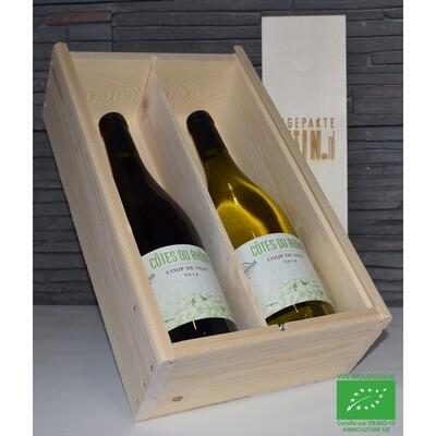Coup de Vent Côtes du Rhône, 2 fles rood/wit