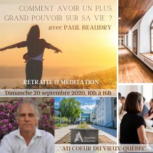 RETRAITE & MÉDITATION, à Québec à l'hôtel du Monastère des Augustines, Dimanche date à venirbientôt 2021 de 10h à 16h | thème à venir