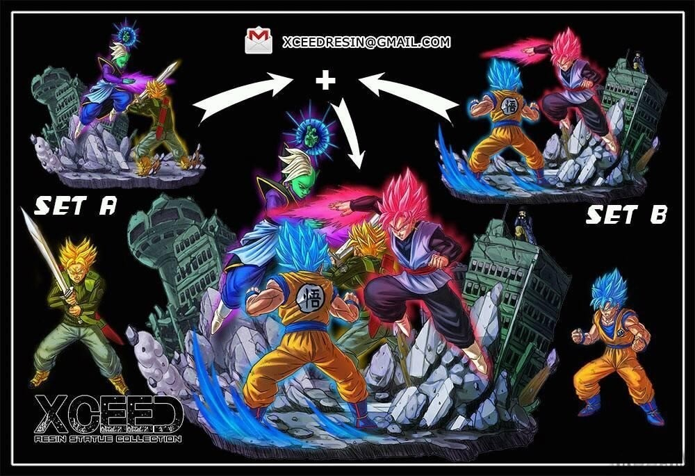 Trunks vs Zamasu set A Xceed