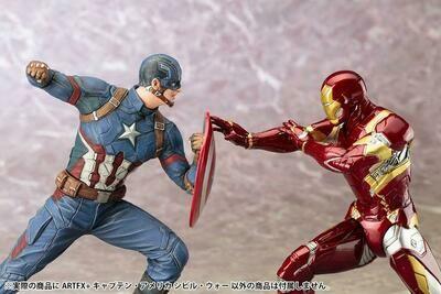 (In Stock) Kotobukiya - Captain America Vs Iron Man - Civil War