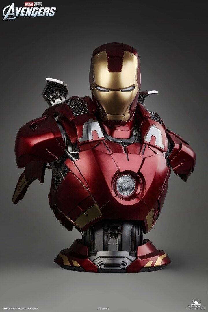 (PO) Queen Studios - Iron Man Life-Size Bust