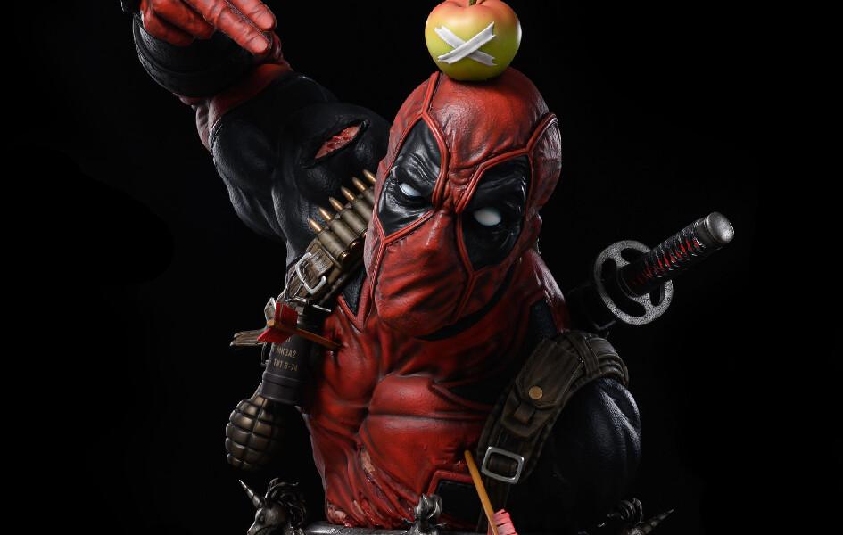 (PO) Iron Kite Studio - Deadpool Life-Size Bust