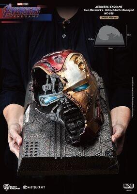 (PO) Beast Kingdom - Iron Man Mark 50 helmet - Battle Damaged
