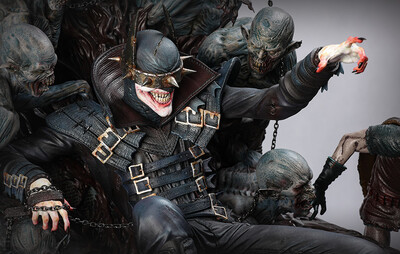 (PO) Queen Studios - Batman Who Laughs on Throne