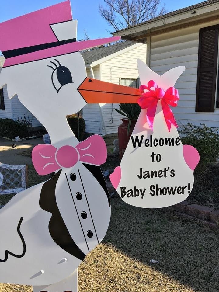 Baby Shower or Gender Reveal Stork Sign Rental