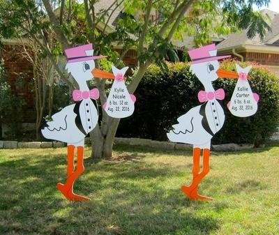 Twins Storks Signs Rental