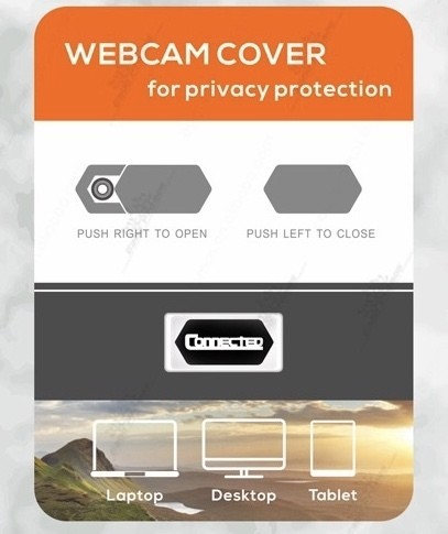Webcam Cover for Computer, Laptop, or Tablet