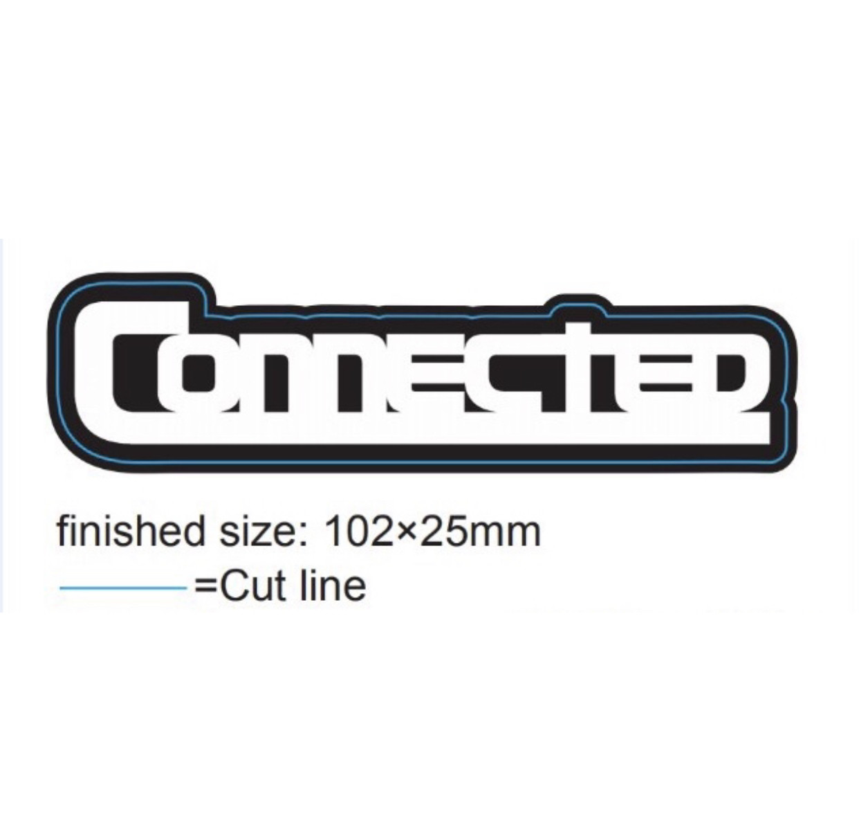 """CONNECTED"" Vinyl Sticker - 4"""