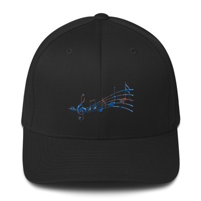 Music Notes Structured Twill Cap