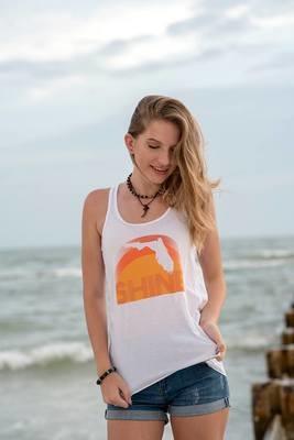 Florida Shine Flowy Tanks - White