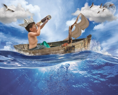Digital composites of adventure kids!