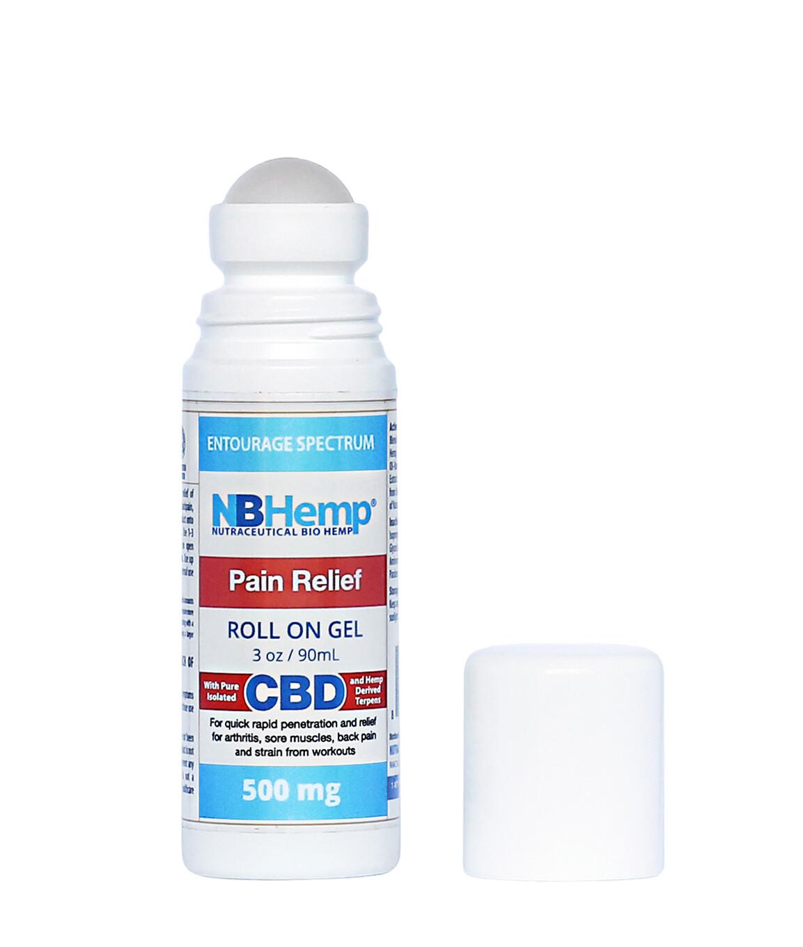 Pain Relief CBD Roll On Gel (1500 Mg), 3 Oz (90ml),