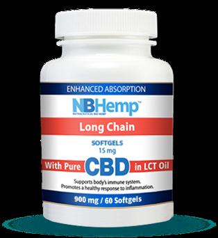 CBD Oil SoftGel Capsules (60 Counts), 900mg, Enhanced Absorption