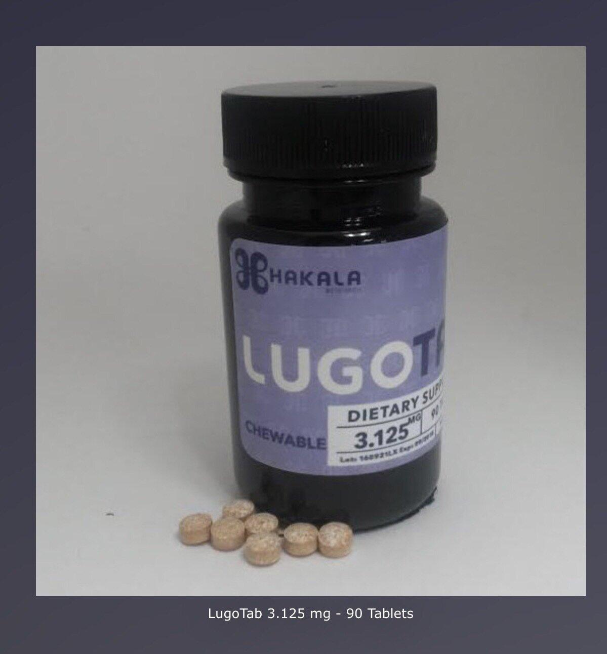 LugoTab 3.125 mg - 90 Tablets