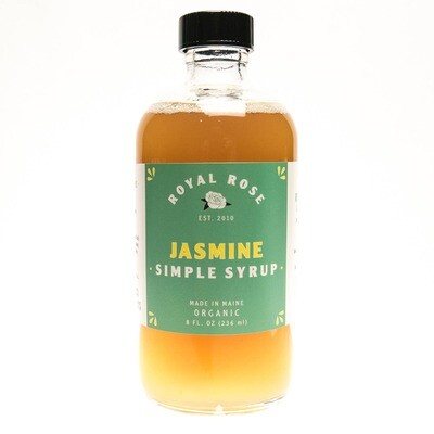 Royal Rose Syrups - Jasmine Organic Simple Syrup 8oz