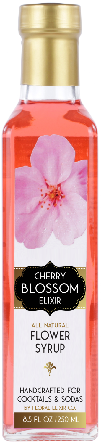 Floral Elixir Co. - Cherry Blossom Elixir - All Natural Cocktail & Soda Syrup