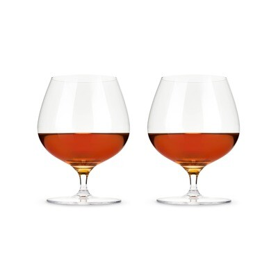 Viski - Crystal Wingback Brandy Glasses - Set of 2