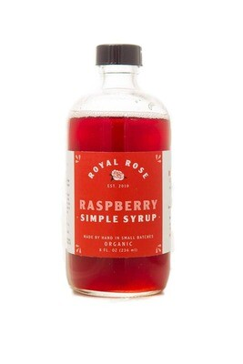 Royal Rose Syrups - Raspberry Organic Simple Syrup 8oz