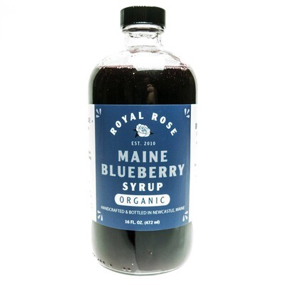 Royal Rose Syrups - Blueberry Organic Simple Syrup 16oz