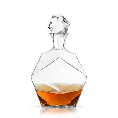 Viski - Raye: Faceted Crystal Liquor Decanter (VISKI)