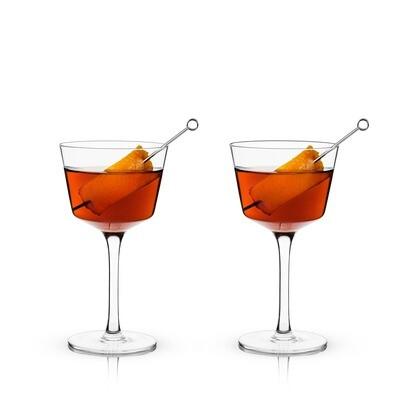 Viski - Raye: Nick & Nora Glass (VISKI)