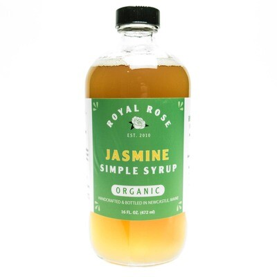 Royal Rose Syrups - Jasmine Organic Simple Syrup 16oz