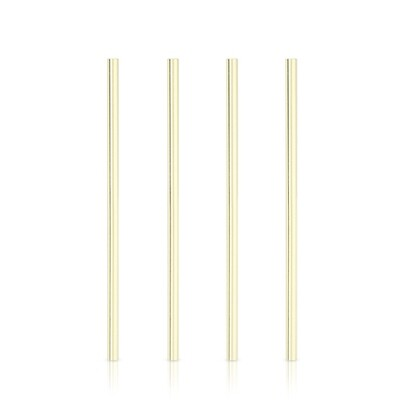 Straw - Wide Gold Plated Cocktail Straw