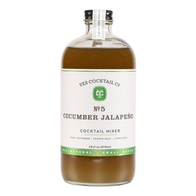 Yes Cocktail Co - Cucumber Jalapeno Cocktail Mixer