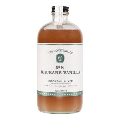 Yes Cocktail Co - Rhubarb Vanilla Cocktail Mixer