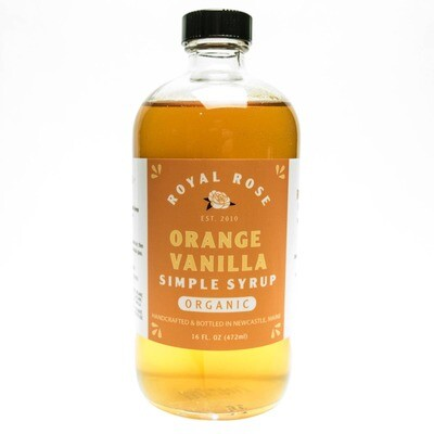Royal Rose Syrups - Organic Orange Vanilla Simple Syrup 16oz