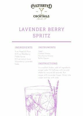 Shades of Rosé Gin Lavender Berry Spritz