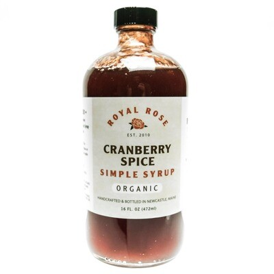Organic Cranberry Spice Simple Syrup (16oz)